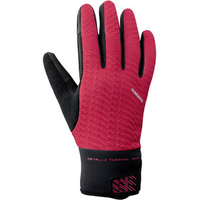 Shimano Windbreak Thermal Reflective Gloves Men red